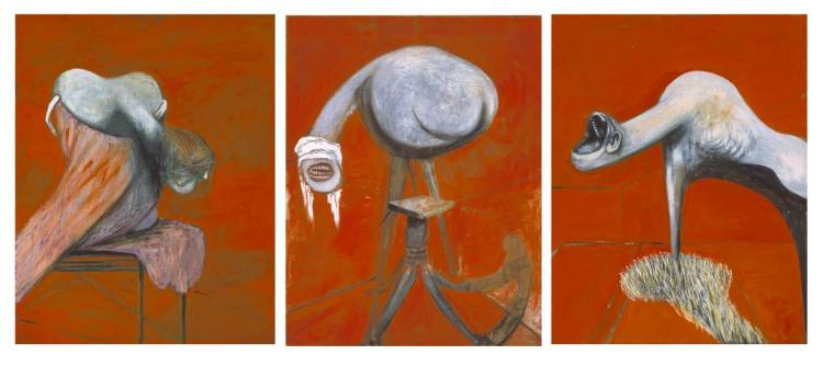 Three Studies for Figures at the Base of a Crucifixion