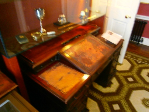 Charles Dicken's writing desk