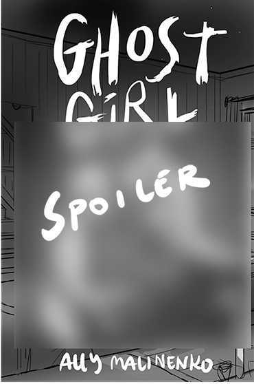 """Alternative cover only showing the title with a large faded box covering the image that says """"Spoilers!"""""""
